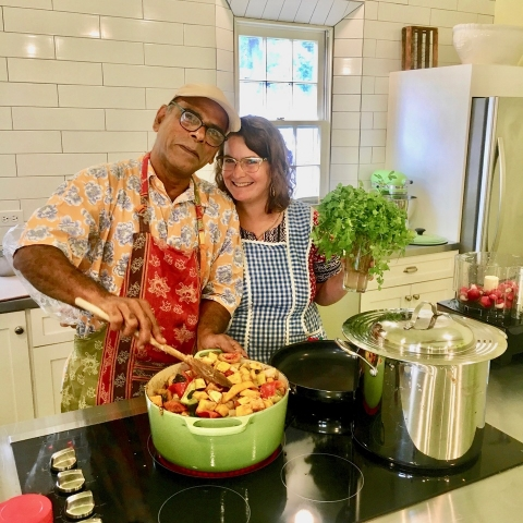 Suresh Pillai and Carrie Dashow, co-founders of Atina Foods