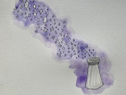 Painting of a salt shaker